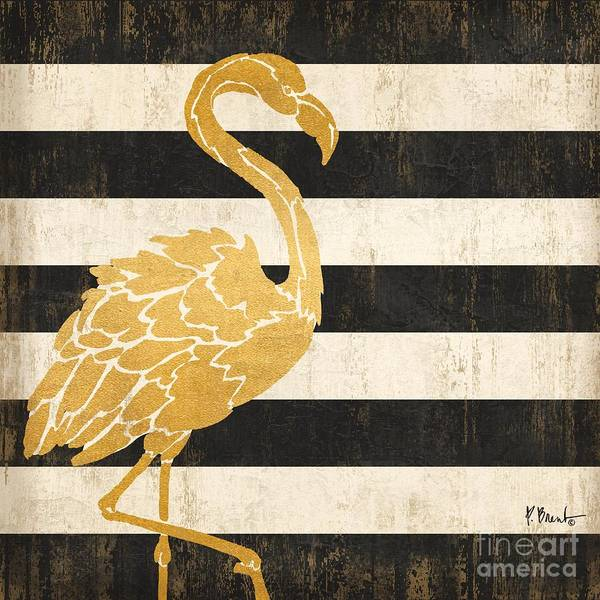 Wall Art - Painting - Gold Coast Flamingo by Paul Brent