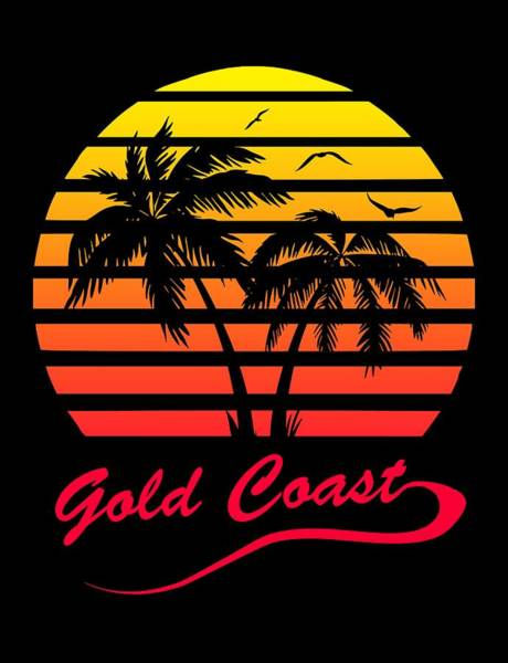 Wall Art - Digital Art - Gold Coast Sunset by Filip Hellman