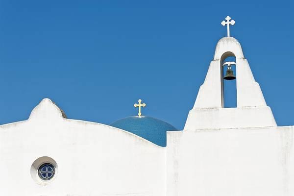 Photograph - Gold Cross - St. Barbara Greek Orthodox Church, California by KJ Swan