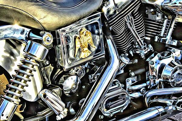 Daytona Bike Week Wall Art - Photograph - Gold Eagle Glint by Alice Gipson