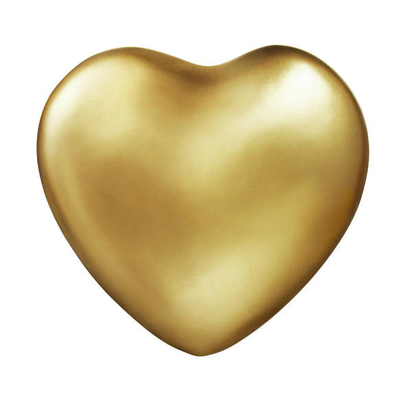 Photograph - Gold Heart by Lauren Nicole
