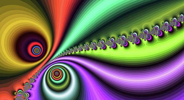 Digital Art - Gold Purple Yin Yang Fine Art by Don Northup
