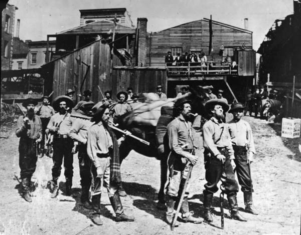 Miners Photograph - Gold Rush Prospectors by Hulton Archive