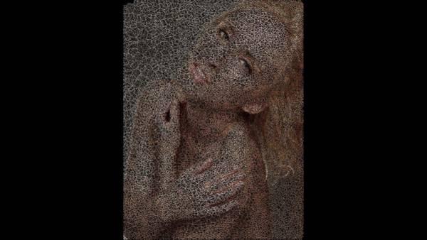 Digital Art - Gold Skin by Stephane Poirier