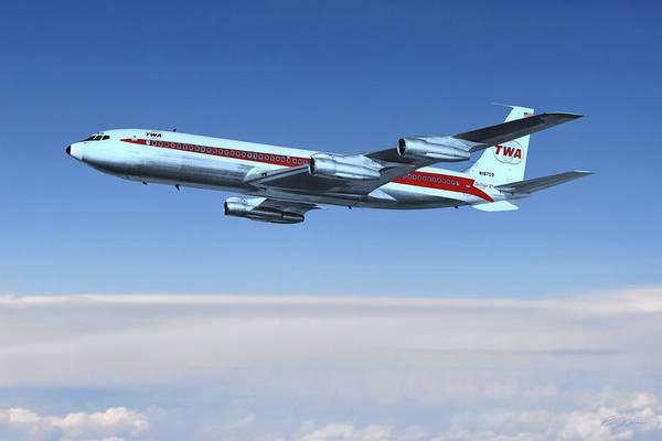Wall Art - Digital Art - Golden Age Aviation - Boeing 707 by Peter Chilelli