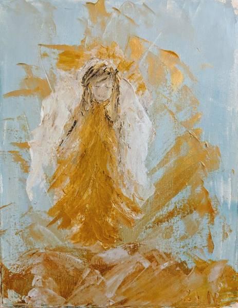 Painting - Golden Angel by Jennifer Nease