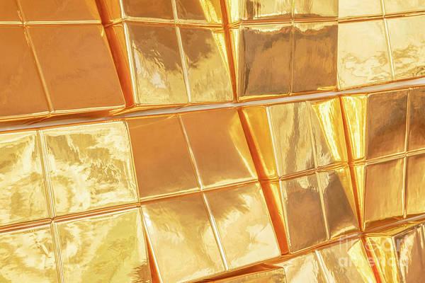 Wall Art - Photograph - Golden Azulejos Tiles by Julia Hiebaum