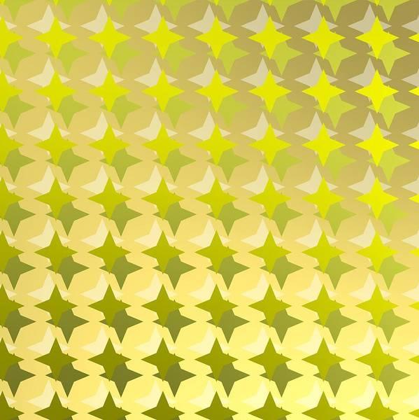 Digital Art - Golden Background With Golden Stars by Alberto RuiZ