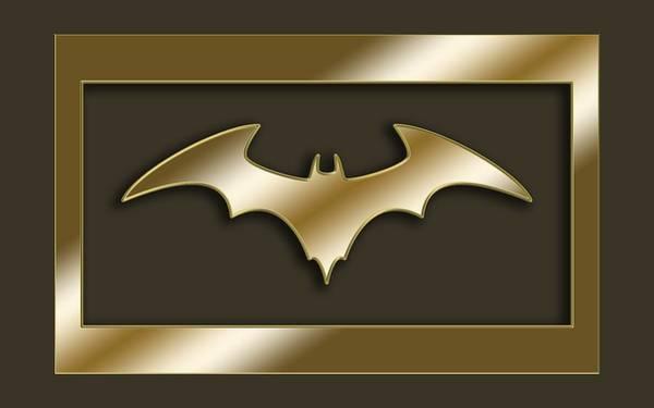 Digital Art - Golden Bat by Chuck Staley