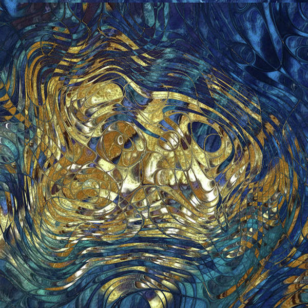 Wall Art - Digital Art - Golden Blues by Jack Zulli