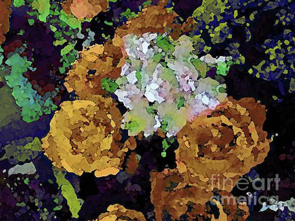 Digital Art - Golden Bouquet by Corinne Carroll