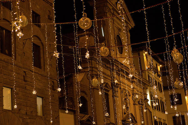 Wall Art - Photograph - Golden Christmas Balls Florence by Iris Richardson