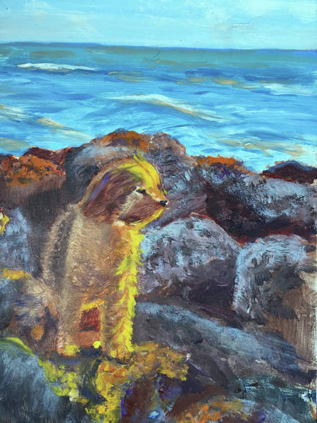 Painting - Golden Dog by Lynne Atwood