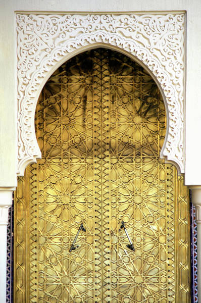 Wall Art - Photograph - Golden Door And An Arch Way by Hisham Ibrahim