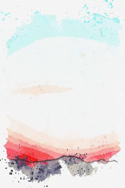 Painting - Golden Dusk -  Watercolor By Adam Asar by Adam Asar