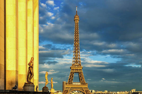 Wall Art - Photograph - Golden Eiffel Tower by Andrew Soundarajan