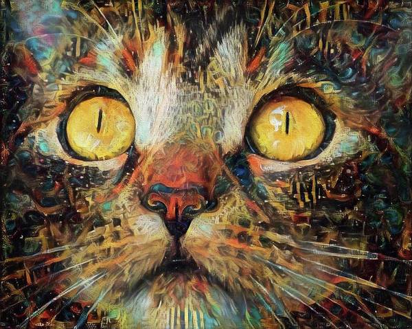 Digital Art - Golden Eyes Dreaming by Peggy Collins