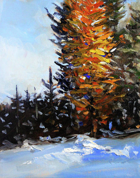 Wall Art - Painting - Golden Fir by Nancy Merkle