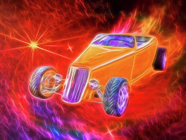 Digital Art - Golden Fire Cheezoom by Rick Wicker
