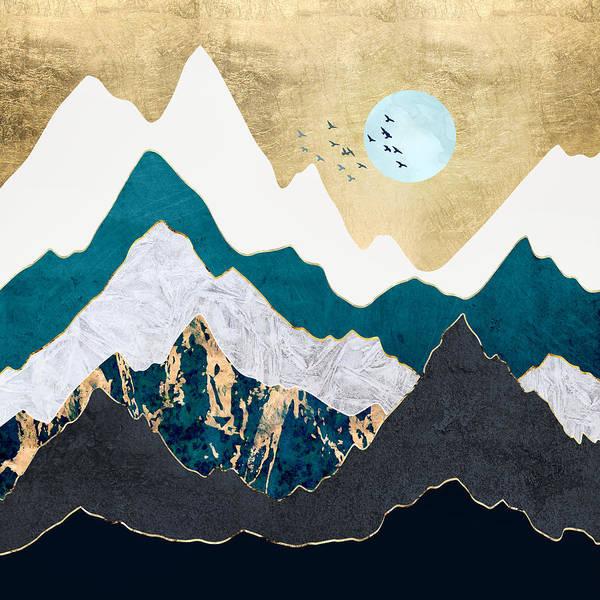 Wall Art - Digital Art - Golden Flight by Spacefrog Designs