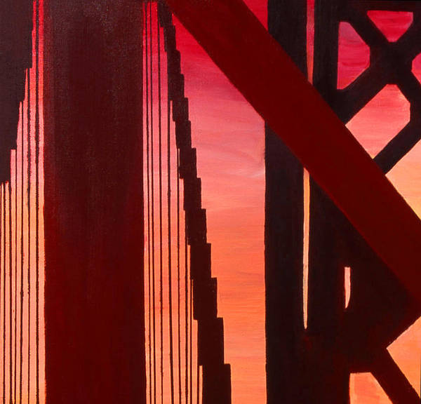 Painting - Golden Gate Art Deco Masterpiece by Rene Capone