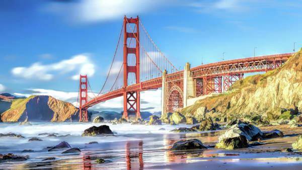 Painting - Golden Gate Bridge In San Francisco by Christopher Arndt