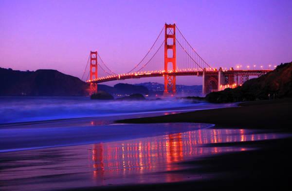 Wall Art - Photograph - Golden Gate Bridge Dusk by Ian Philip Miller