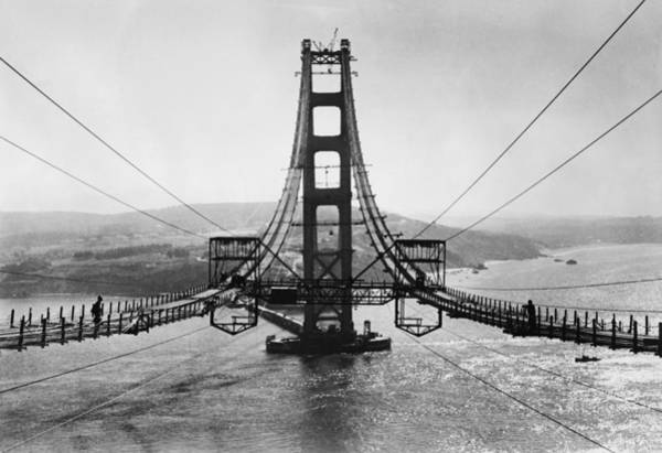 American Revolution Photograph - Golden Gate Bridge by Hulton Archive