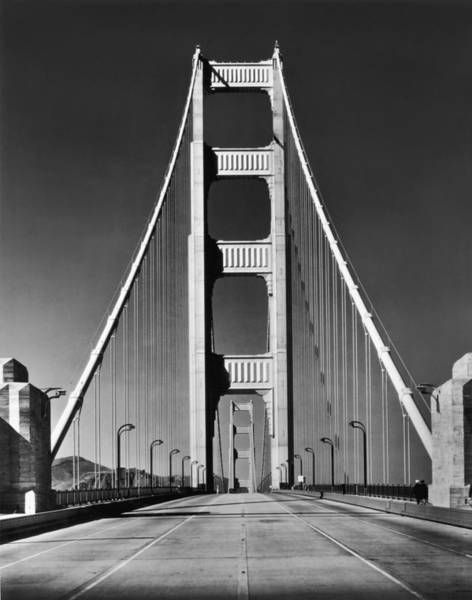 Bridge Photograph - Golden Gate Bridge by Hulton Collection