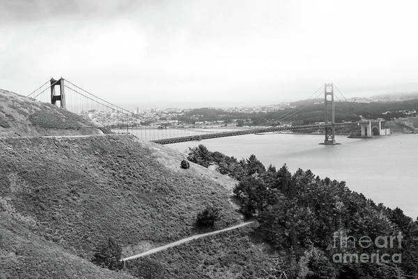 Photograph - Golden Gate Bridge In Black-white by Christiane Schulze Art And Photography
