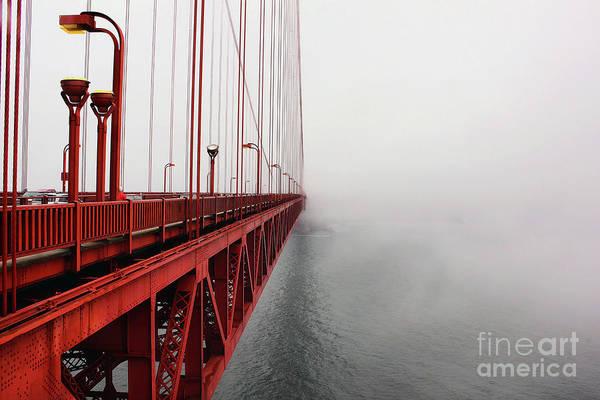 Wall Art - Photograph - Golden Gate Bridge In Fog, San by Adam Treadwell