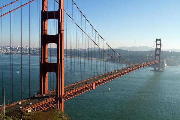 Land Mark Photograph - Golden Gate Bridge by Mark Miller Photos