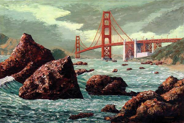 Painting - Golden Gate Bridge / San Francisco, California by David Arrigoni