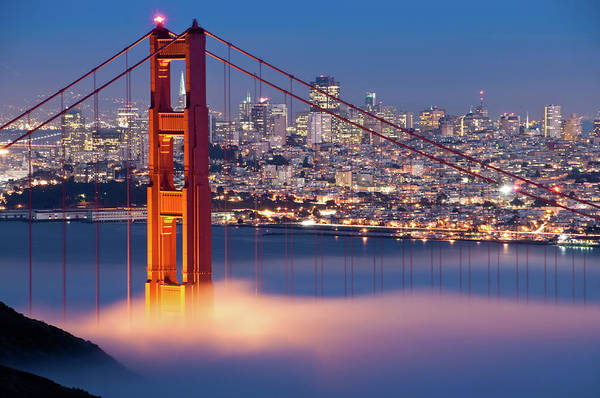 Fog Photograph - Golden Gate Bridge, San Francisco by Canbalci