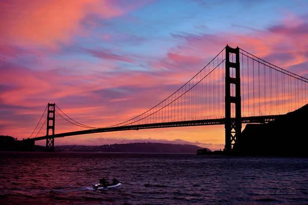 Photograph - Golden Gate Sunset by Brian Tada