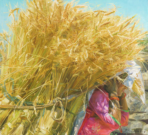Wall Art - Painting - Golden Harvest by Victoria Kharchenko