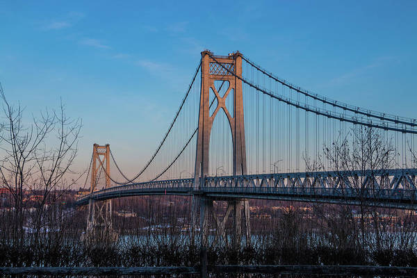Photograph - Golden Hour At Mid-hudson Bridge by Jeff Severson