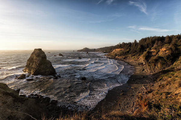 Wall Art - Photograph - Golden Hour At Otter Point by Belinda Greb