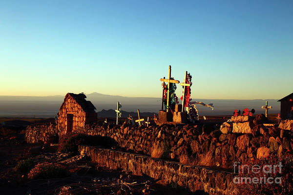 Photograph - Golden Hour At Socaire Cemetery Chile by James Brunker