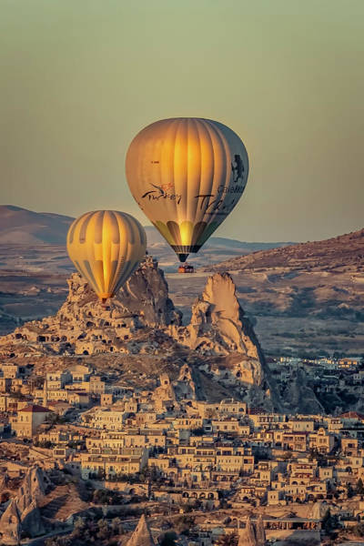 Photograph - Golden Hour Balloons by Francisco Gomez