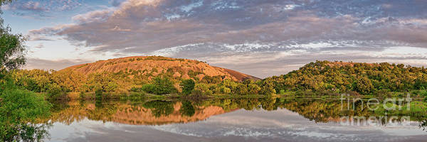 Photograph - Golden Hour Contemplation At Moss Lake - Enchanted Rock Fredericksburg Texas Hill Country by Silvio Ligutti