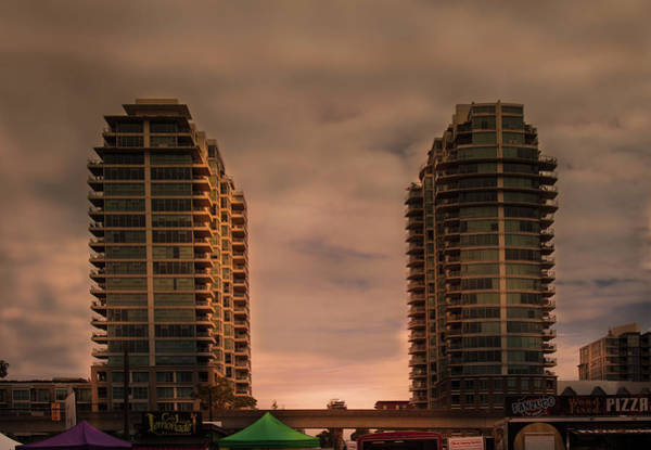 Photograph - Golden Hour On Two Buildings by Juan Contreras