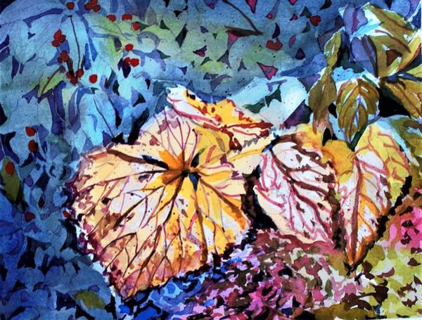 Wall Art - Painting - Golden Leaves by Mindy Newman