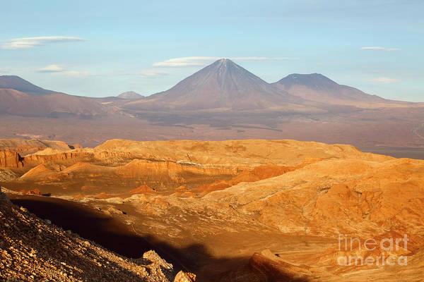 Photograph - Golden Light In Moon Valley Atacama Desert Chile by James Brunker