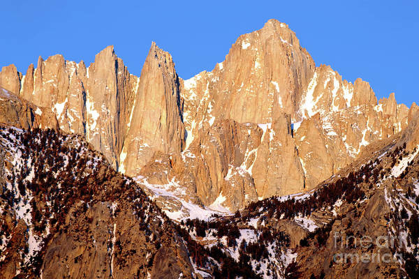 Wall Art - Photograph - Golden Light, Mount Whitney by Douglas Taylor