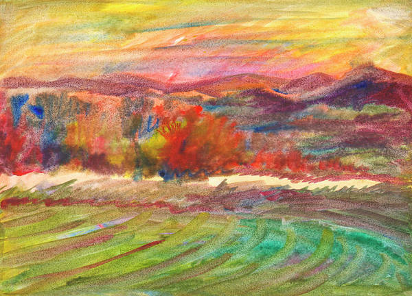 Painting - Golden Light Of Autumn by Irina Dobrotsvet