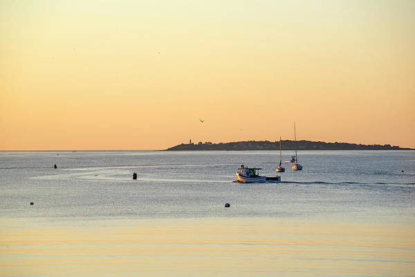 Photograph - Golden Light Over Beverly Ma And Bakers Island Sunrise by Toby McGuire