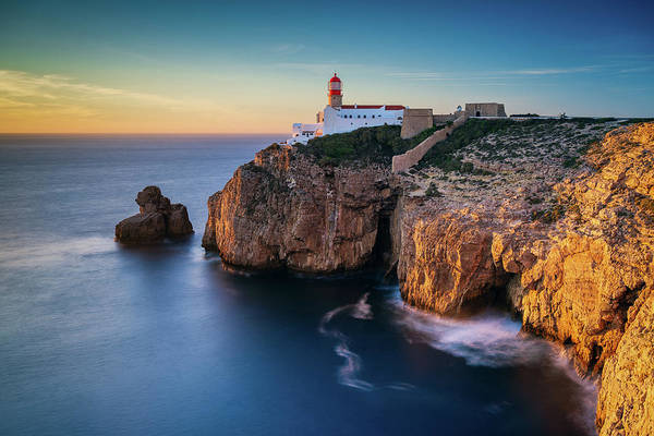 Photograph - Golden Light Over Cape Saint Vincent by Michael Blanchette