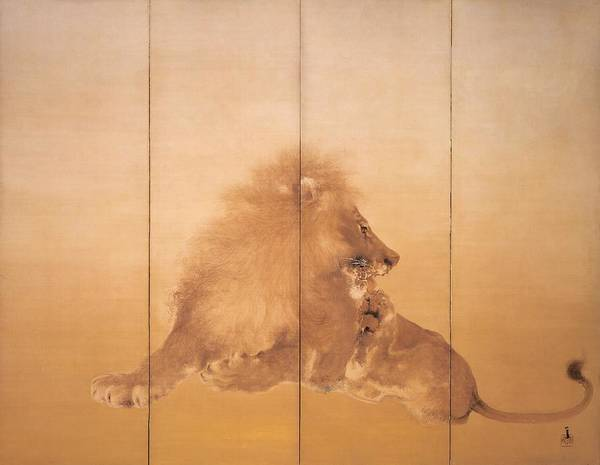 Wall Art - Painting - Golden Lion - Digital Remastered Edition by Takeuchi Seiho
