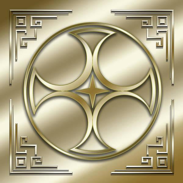 Digital Art - Golden Medallion 1 by Chuck Staley